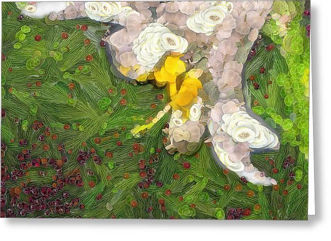 Fruit lily Greeting Card by Odon Czintos