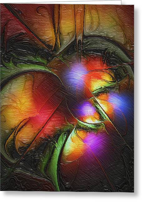 Recently Sold -  - Fractal Orbs Greeting Cards - Fruit of the Forest Greeting Card by Amanda Moore