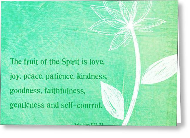 Fruit Of The Spirit Greeting Card by Linda Woods