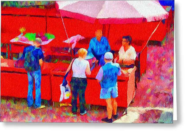 Fruit of the Vendor Greeting Card by Jeff Kolker