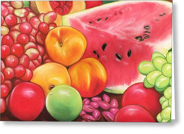 Peaches Pastels Greeting Cards - Fruit Greeting Card by Paula  Parker