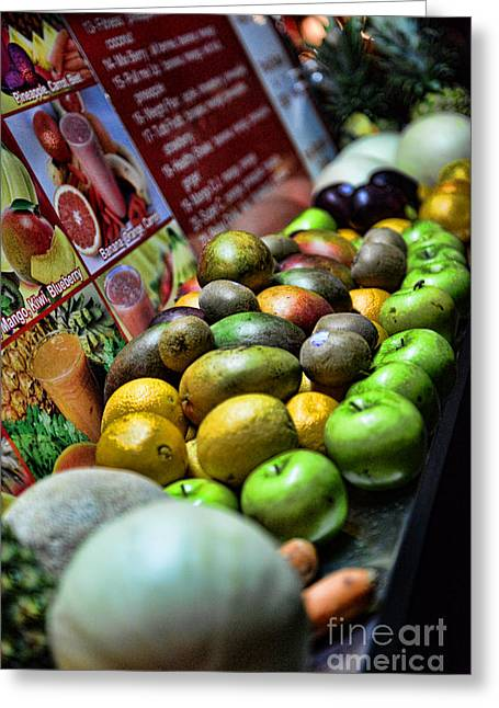 Smoothie Greeting Cards - Fruit Stand Greeting Card by Paul Ward
