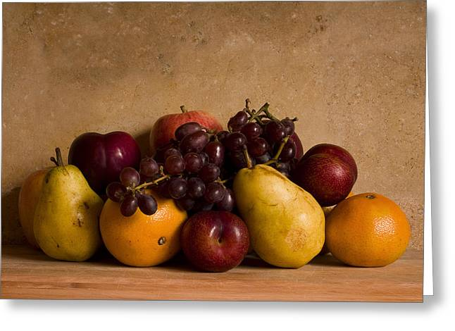 Fruits Greeting Cards - Fruit Still Life Greeting Card by Andrew Soundarajan