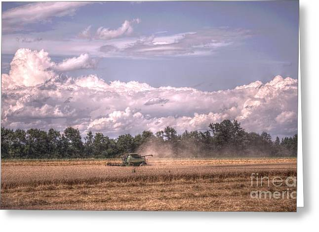 Field. Cloud Digital Art Greeting Cards - Fruitful Fields Of Barron Greeting Card by The Stone Age
