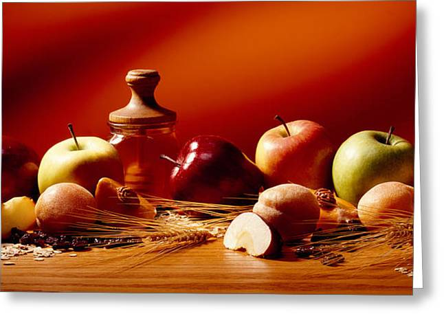 Fruits and Grains Greeting Card by Brian Brown