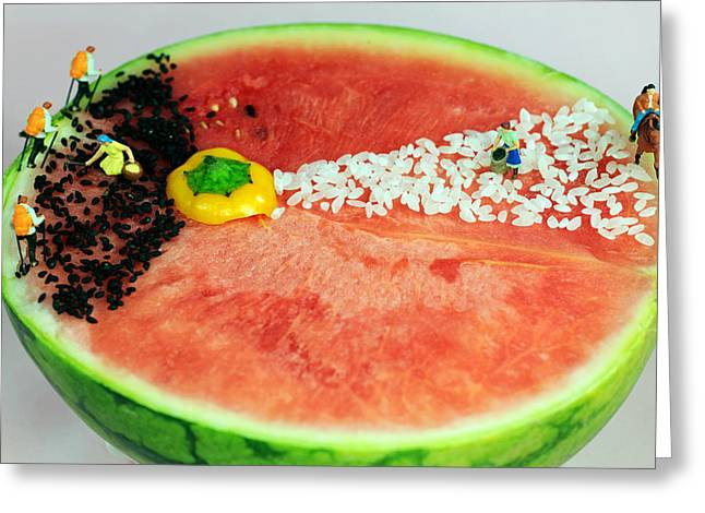 Melon Digital Greeting Cards - Fruits depicting Keplers Law Greeting Card by Paul Ge