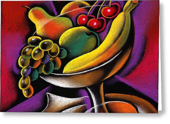 Fruits Greeting Card by Leon Zernitsky