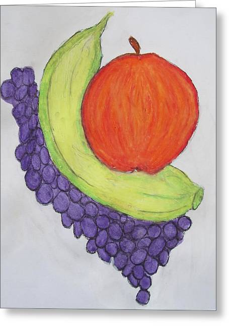Apple Pastels Greeting Cards - Fruits Greeting Card by Vivekanand Murthy