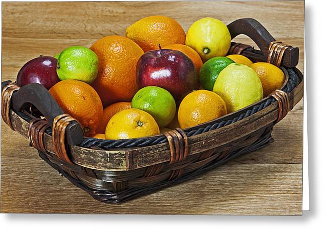 fruits with vitamin C Greeting Card by Joana Kruse