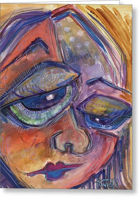 Frustrated Greeting Cards - Frustration Greeting Card by Tanielle Childers