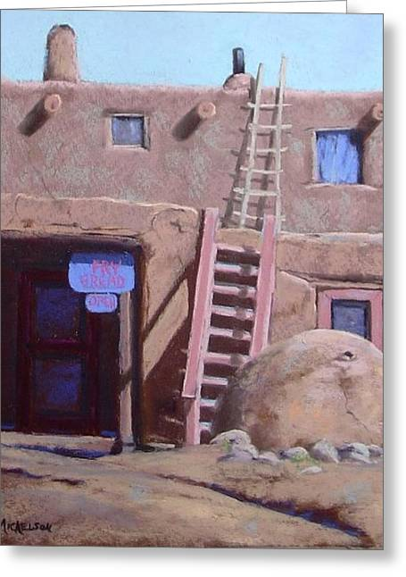 Taos Pastels Greeting Cards - Fry Bread Greeting Card by Debra Mickelson