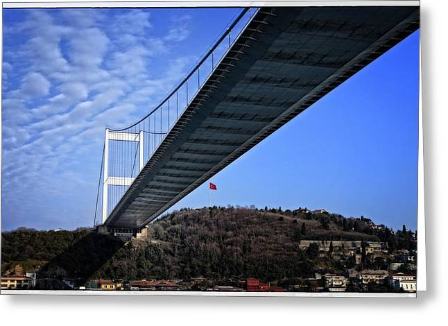 Bay Bridge Greeting Cards - FSM Bridge Greeting Card by Joan Carroll