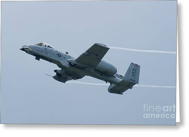 Ft Af 81 0967 Oa 10 Thunderbolt II Climbing With Vapor Greeting Card by Henry Plumley Jr
