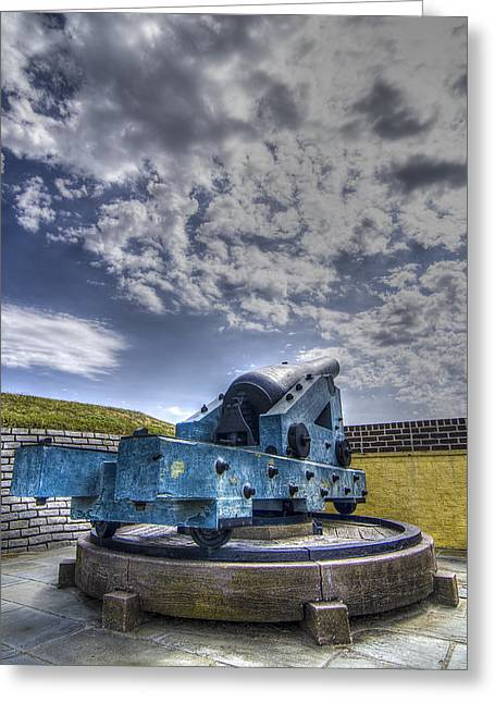 Bastion Greeting Cards - Ft. Moultrie Canon II Greeting Card by Drew Castelhano
