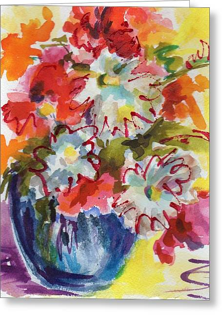 Oranger Greeting Cards - Full Bloom Greeting Card by Judy  Rogan