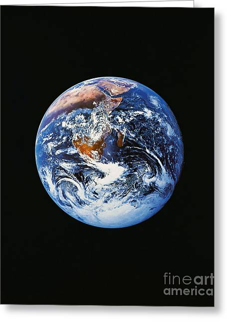 Planet Map Greeting Cards - Full Earth From Space Greeting Card by Stocktrek Images