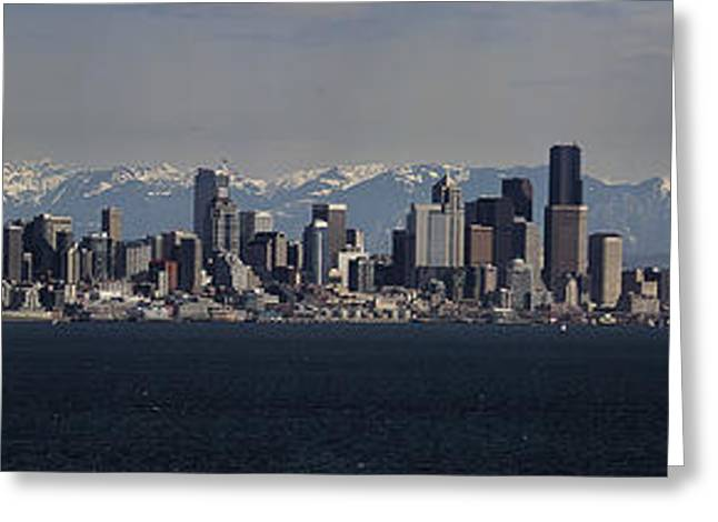 Seattle Photographs Greeting Cards - Full Frontal Seattle Greeting Card by James Heckt
