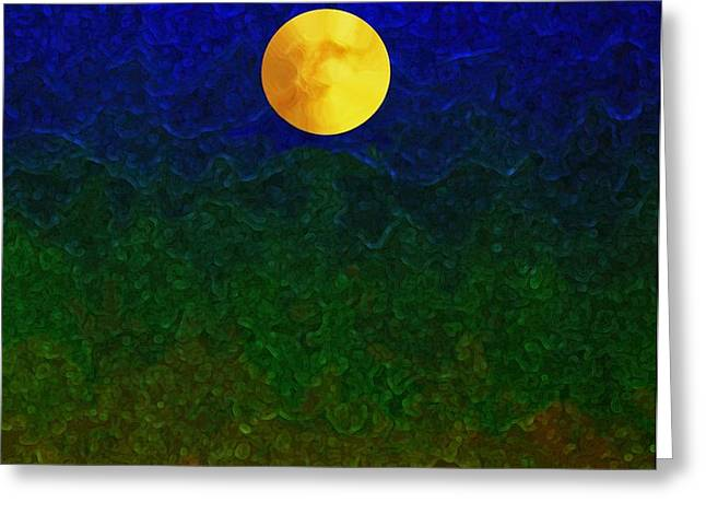 Full Moon Greeting Card by Dale   Ford