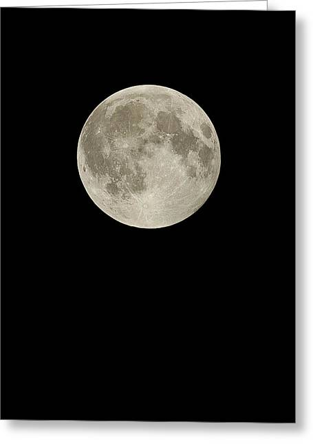 March Moon Greeting Cards - Full Moon Greeting Card by Eckhard Slawik