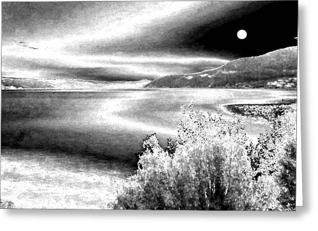 Winter Photos Greeting Cards - Full Moon In Winter Greeting Card by Will Borden