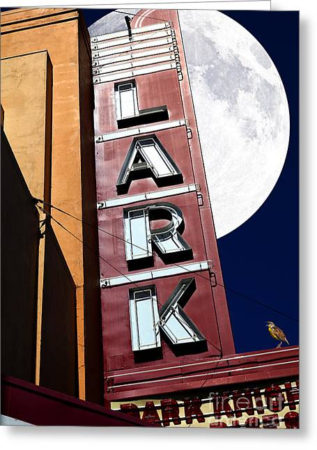 Full Moon Over The Lark - Larkspur California - 5d18489 Greeting Card by Wingsdomain Art and Photography