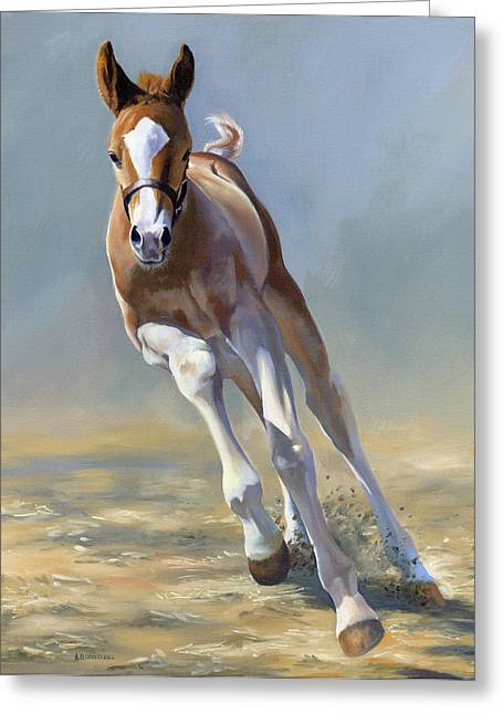 Filly Art Greeting Cards - Full of Potential Greeting Card by Alecia Underhill