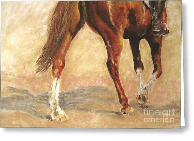 White Horse Pastels Greeting Cards - Full of Verve Greeting Card by Sabina Haas