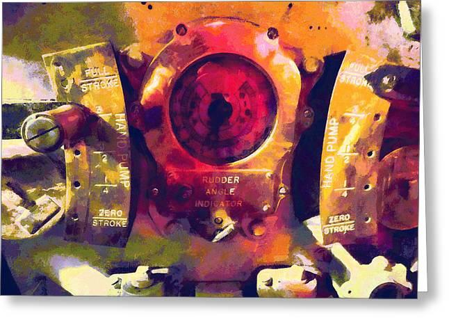 Gauge Greeting Cards - Full Stroke Greeting Card by Susan Savad