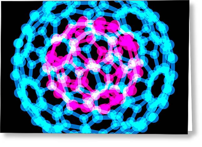 Macromolecule Greeting Cards - Fullerene Molecules, Computer Artwork Greeting Card by Laguna Design