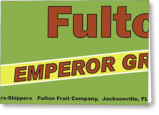 Labelled Greeting Cards - Fulton Grapes Greeting Card by John OBrien