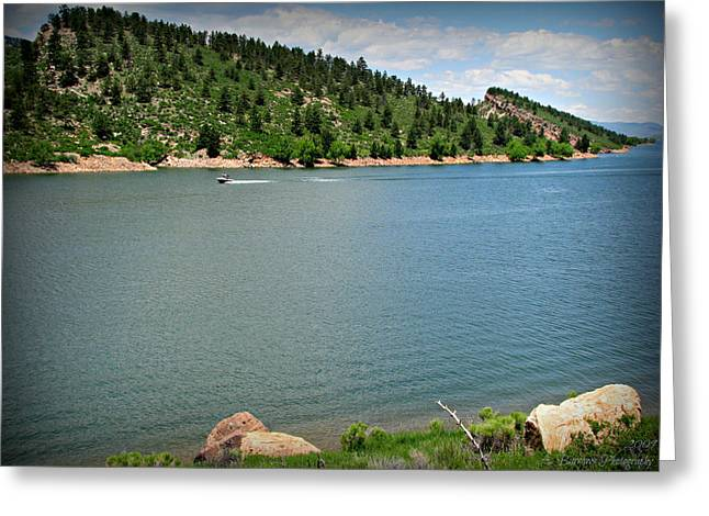 Horsetooth Reservoir Greeting Cards - Fun at the Lake Greeting Card by Aaron Burrows