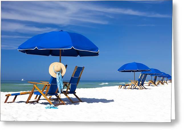 Seaside Digital Art Greeting Cards - Fun In the Sun Greeting Card by Janet Fikar
