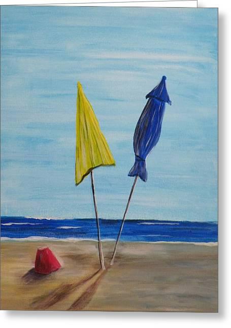 Funbrellas Plus One Greeting Card by Wayne Miller