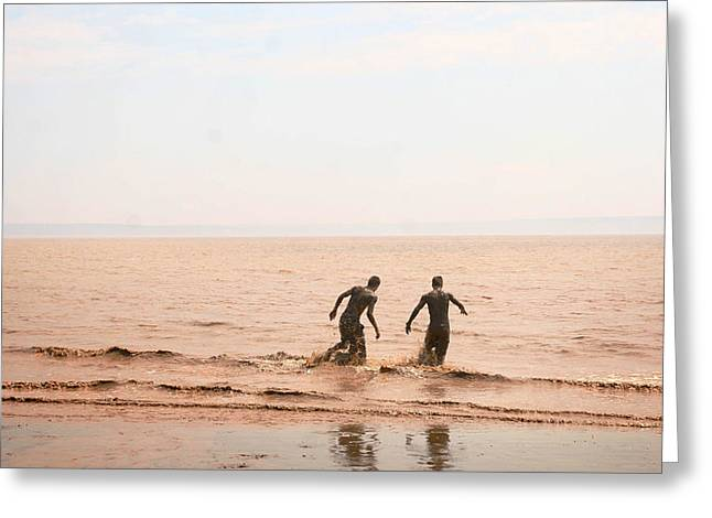Mud Season Greeting Cards - Fundy Bay New Brunswick Canada Greeting Card by Isabel Poulin
