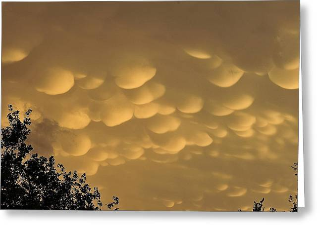Summer Storm Greeting Cards - Funky Clouds Greeting Card by Malania Hammer