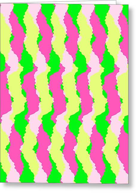 Bold Style Greeting Cards - Funky Stripes Greeting Card by Louisa Knight