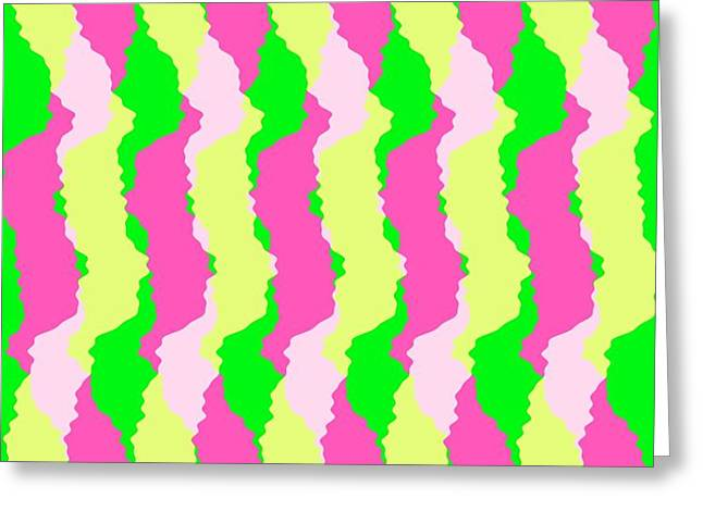 Funky Stripes Greeting Card by Louisa Knight