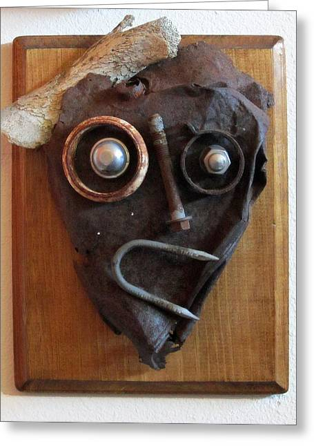 Wood Sculptures Greeting Cards - Funny Bone Greeting Card by Snake Jagger