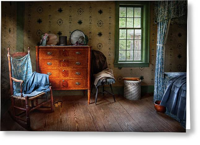 Customizable Greeting Cards - Furniture - Chair - American Classic Greeting Card by Mike Savad