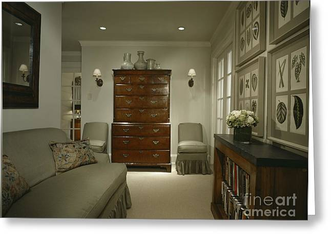 Furniture In Upscale Home Greeting Card by Robert Pisano