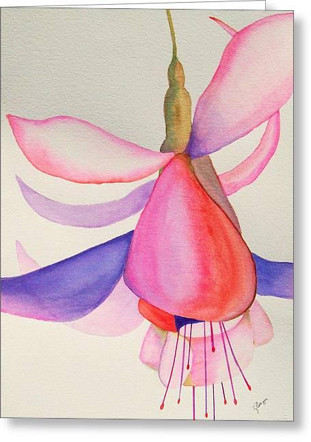 Fushia Greeting Cards - Fuschia I Greeting Card by Elise Boam