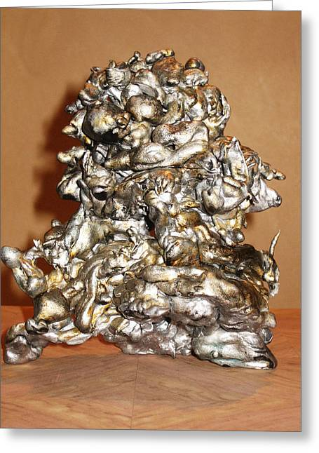Silver Sculptures Greeting Cards - Fusion Greeting Card by Patricia Bertisch
