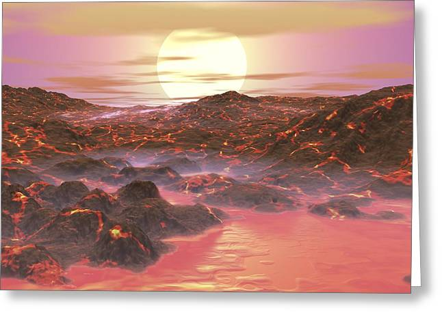 Arid Life Photographs Greeting Cards - Future Earth, Artwork Greeting Card by Walter Myers
