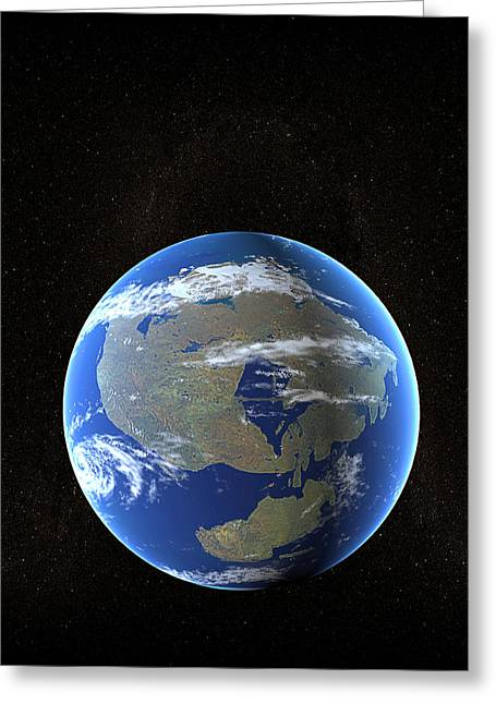 Pangea Greeting Cards - Future Earth Greeting Card by Christian Darkin