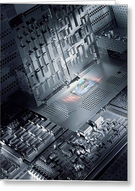 Motherboard Greeting Cards - Future Electronics Greeting Card by Richard Kail