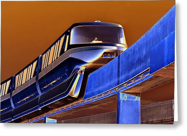 Creative Photography Greeting Cards - Future Monorail Greeting Card by David Lee Thompson