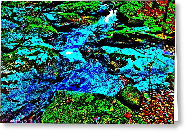 Stream Greeting Cards - Fuzzy Childs Brook 26 Greeting Card by George Ramos