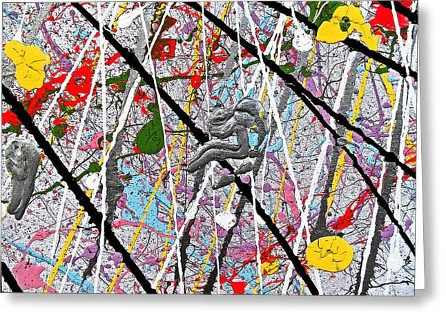 Fyr Art Work 7 Greeting Card by Cyryn Fyrcyd