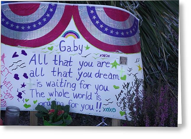 January 8th Greeting Cards - Gabbys Support Greeting Card by Jayne Kerr