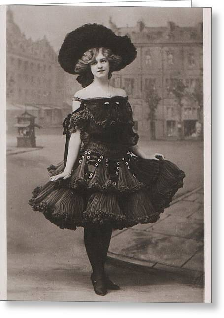 Gabrielle Greeting Cards - Gabrielle Ray ca.1905 Greeting Card by Stefan Kuhn